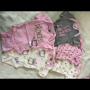 Baby girl 5 pack of onsies